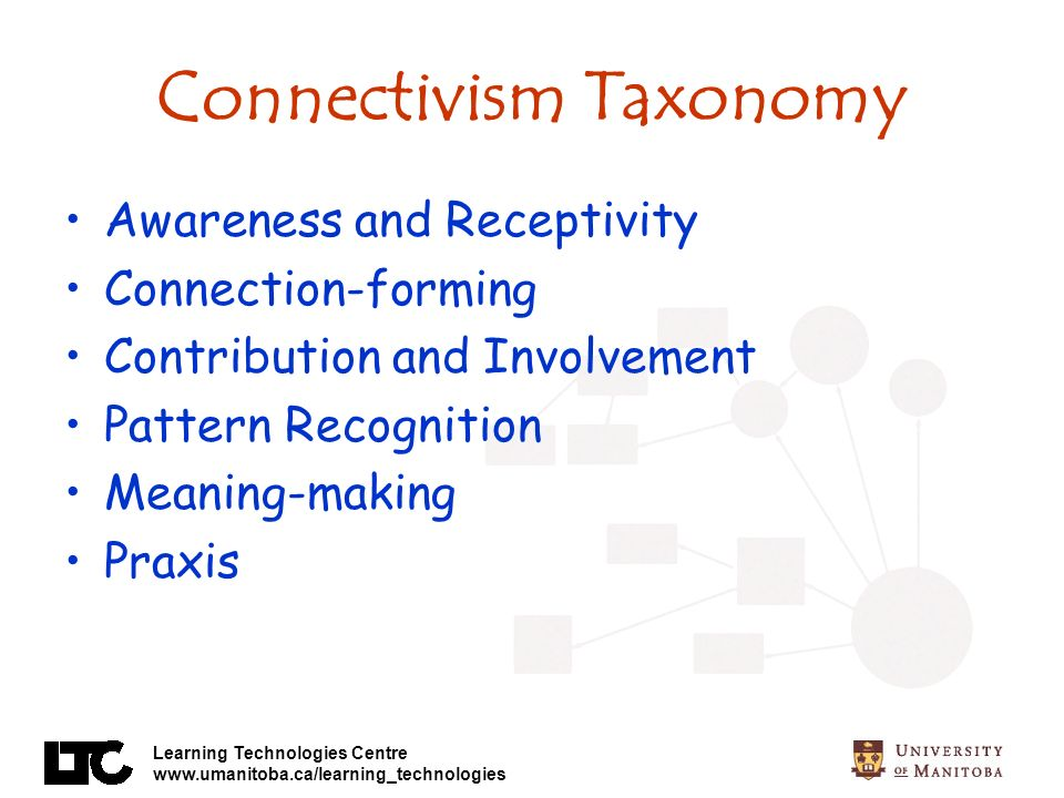 Connectivism Taxonomy