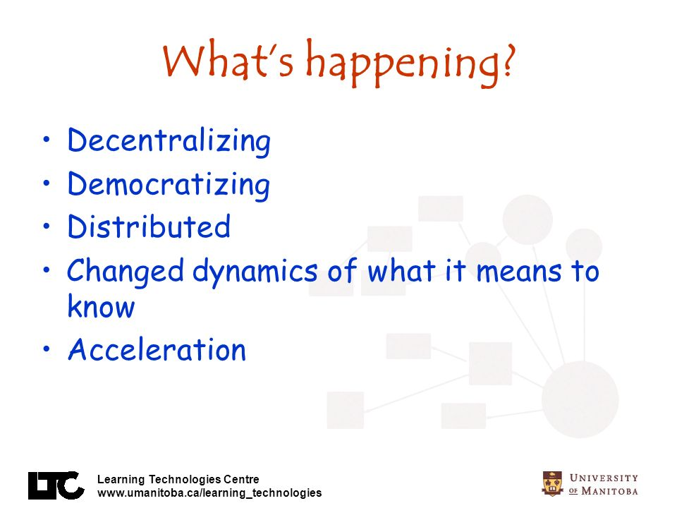 What's happening Decentralizing Democratizing Distributed