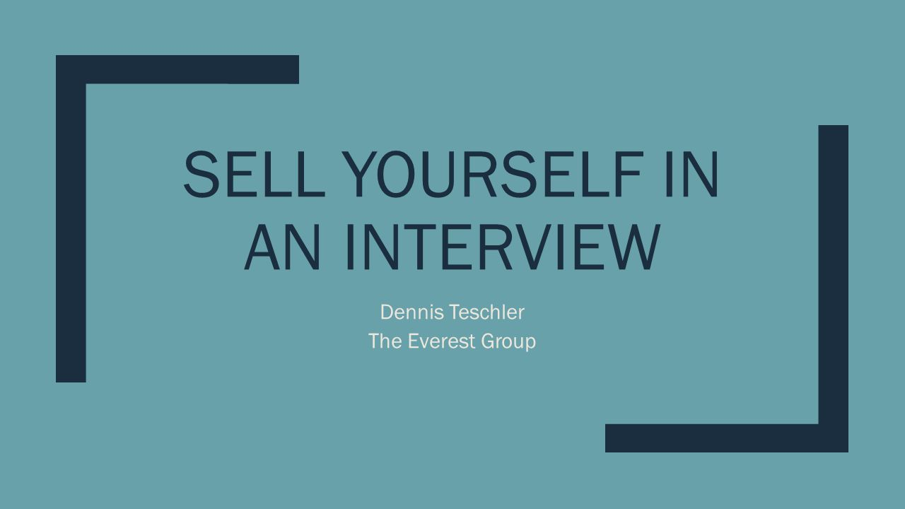 sell yourself in an interview ppt video online download