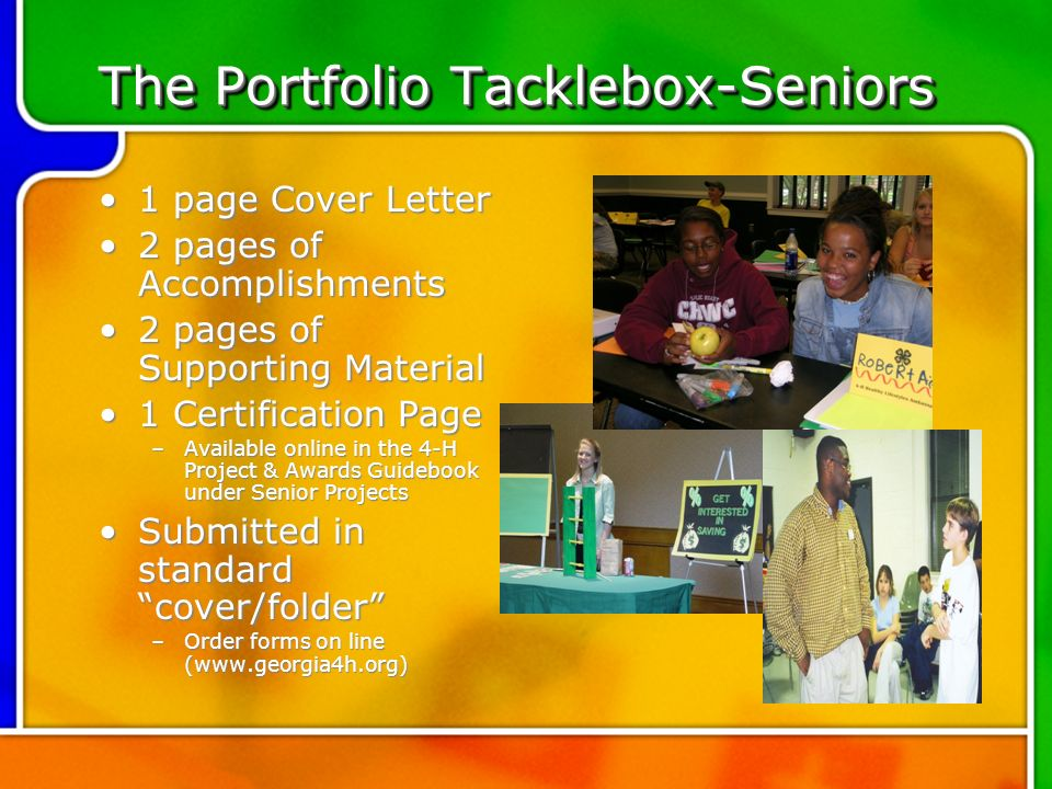 Senior project cover letter -