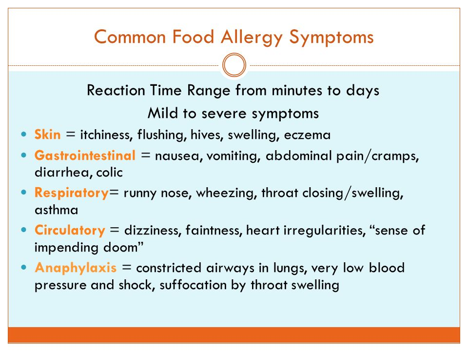 Food allergies ppt download for Fish allergy symptoms