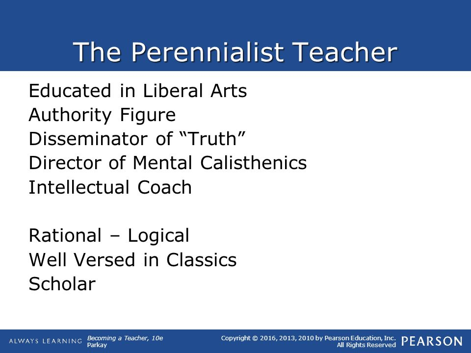 perennialism and perennialist authors analysis education essay Essentialism tries to instill all students with the most essential or basic academic knowledge and skills  back to the foundations of education web home.
