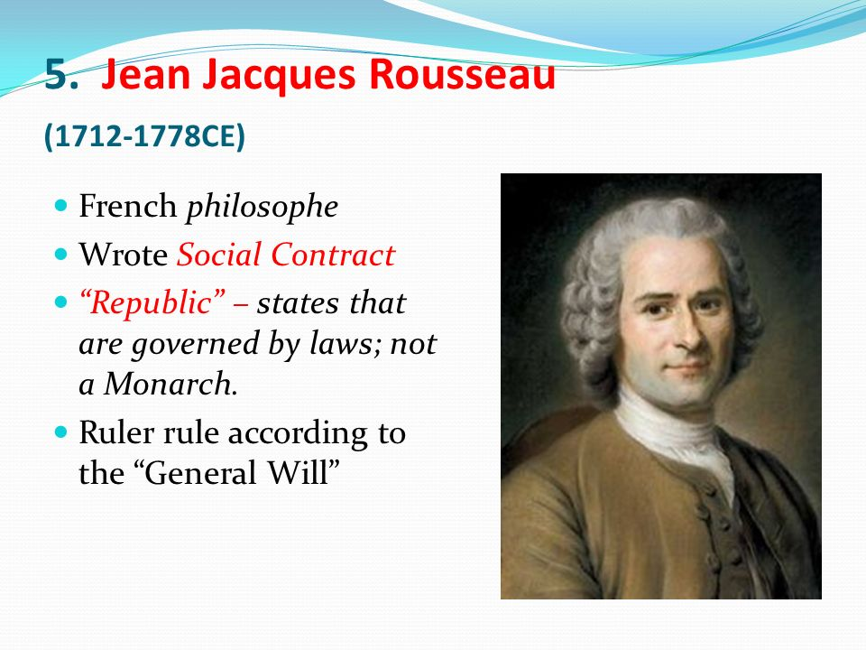 an overview of the government by jean jacques rousseau Philosophy: by individual philosopher  jean-jacques rousseau  introduction   referred to the republican government of venice in his later political work.