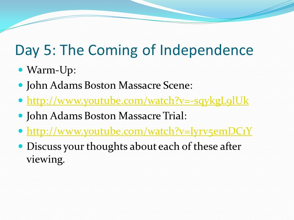 john adams and the coming of the revolution thesis John quincy adams: life before the presidency his father attended to the business of revolution john quincy witnessed the battle john quincy adams essays.