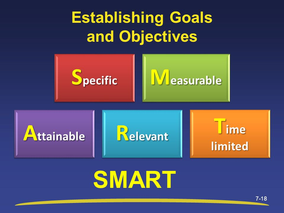 Establishing Goals and Objectives
