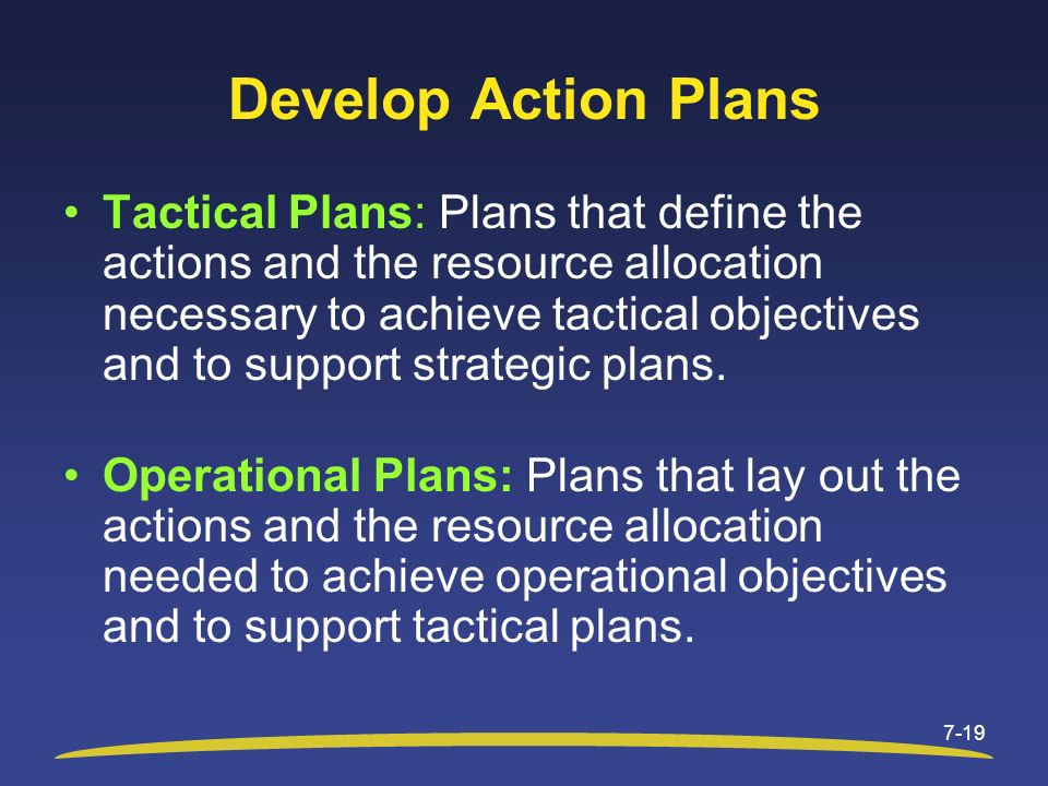 Develop Action Plans