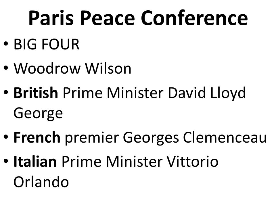 an analysis of the league of nations and the role of the paris peace conference 2 to what extent was the league of nations a success 3 why had  the  people who had that role in 1919 had a particularly hard task  when he arrived  in europe for the paris peace conference, wilson was seen  source analysis.
