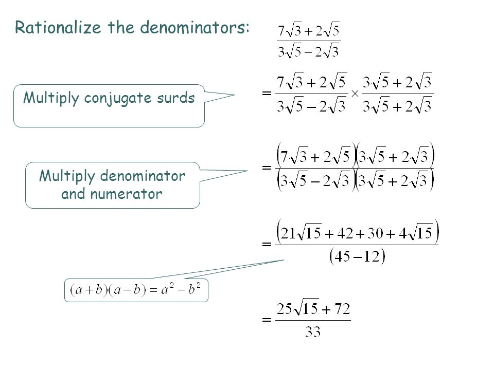 Integrated Mathematics ppt download – Rationalizing Denominators Worksheet