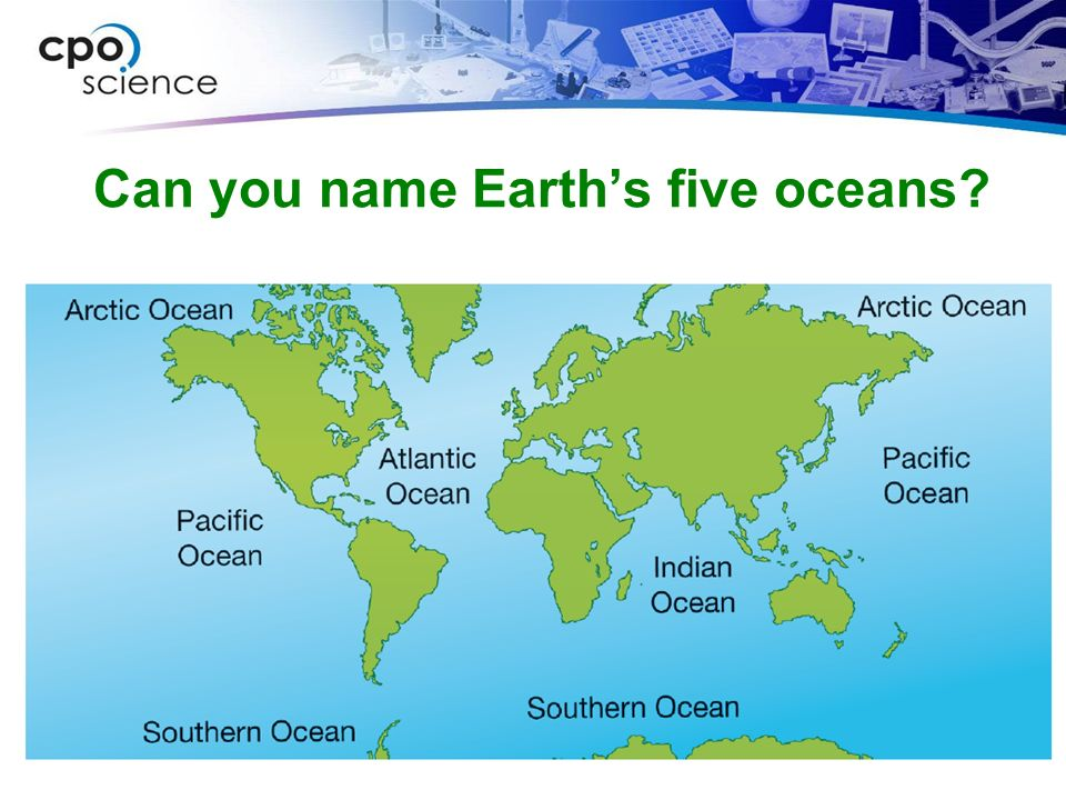 The Ocean Name And Locate The Five Oceans By Laurenstuart - What are the five oceans