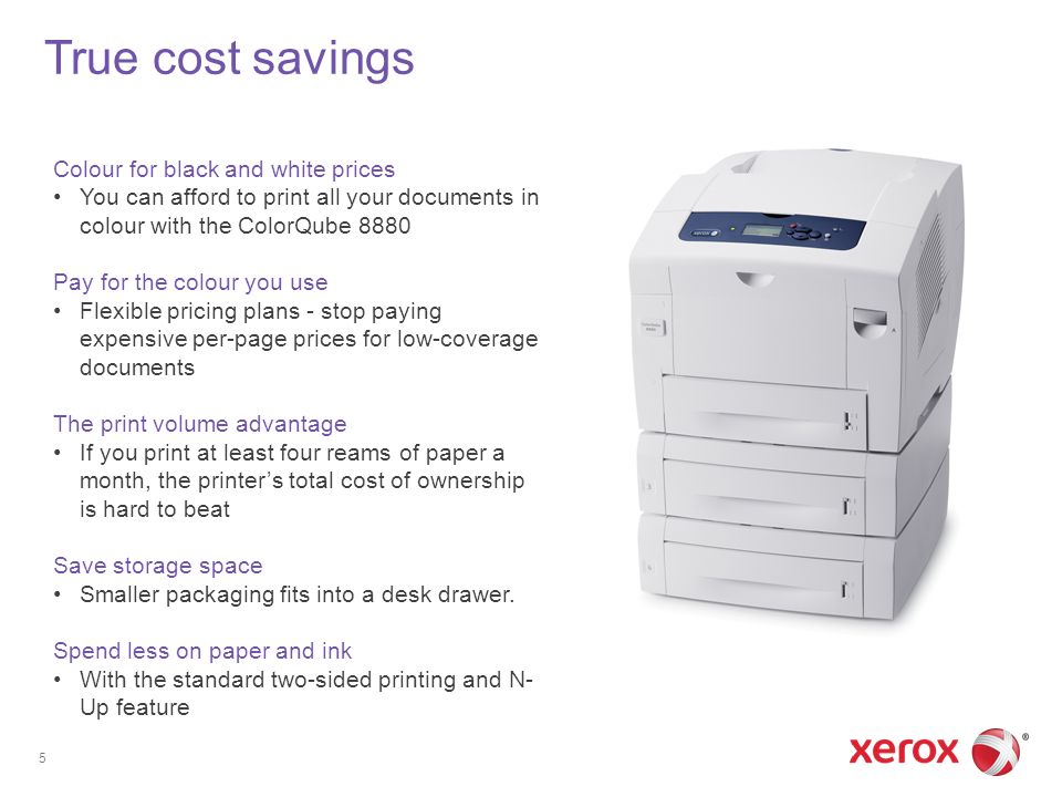 True Cost Savings Colour For Black And White Prices