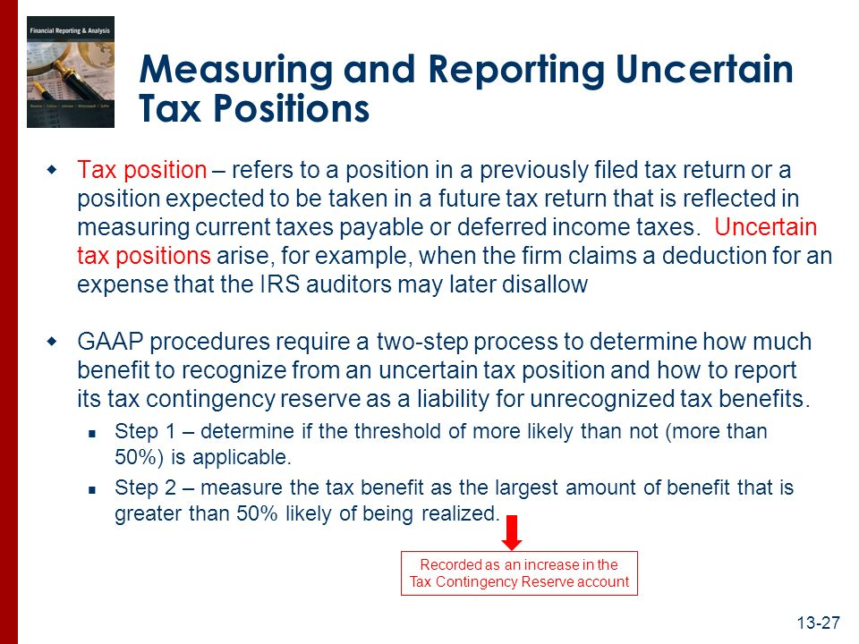 tax return position This is an html page of instructions for form  to disregard of rules or to a substantial understatement of income tax if the return position has a.