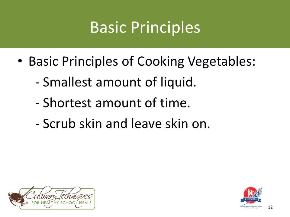 Preparing vegetables ppt video online download basic principles basic principles of cooking vegetables altavistaventures Image collections