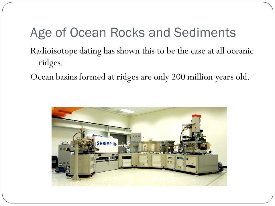 Dating ocean sediments