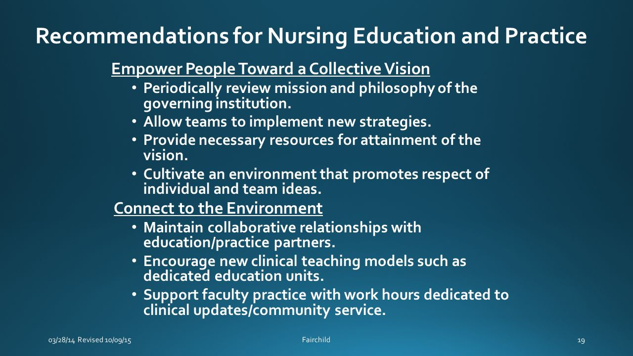 nursing education practice Education guidelines are provided to assist program directors and faculty in implementing the  proposal to establish a new advanced practice nursing education.