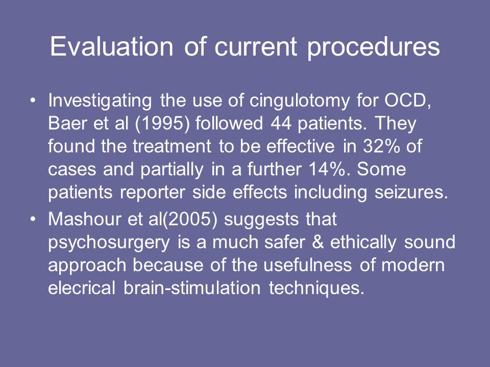 Psychosurgery. - ppt video online download