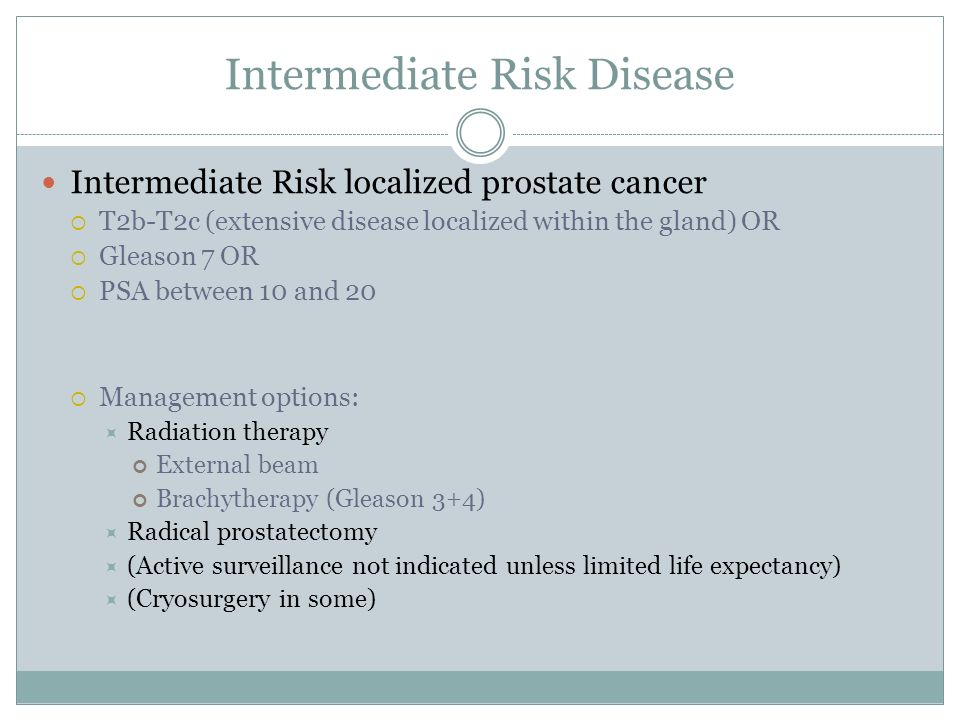t2c prostate cancer prognosis