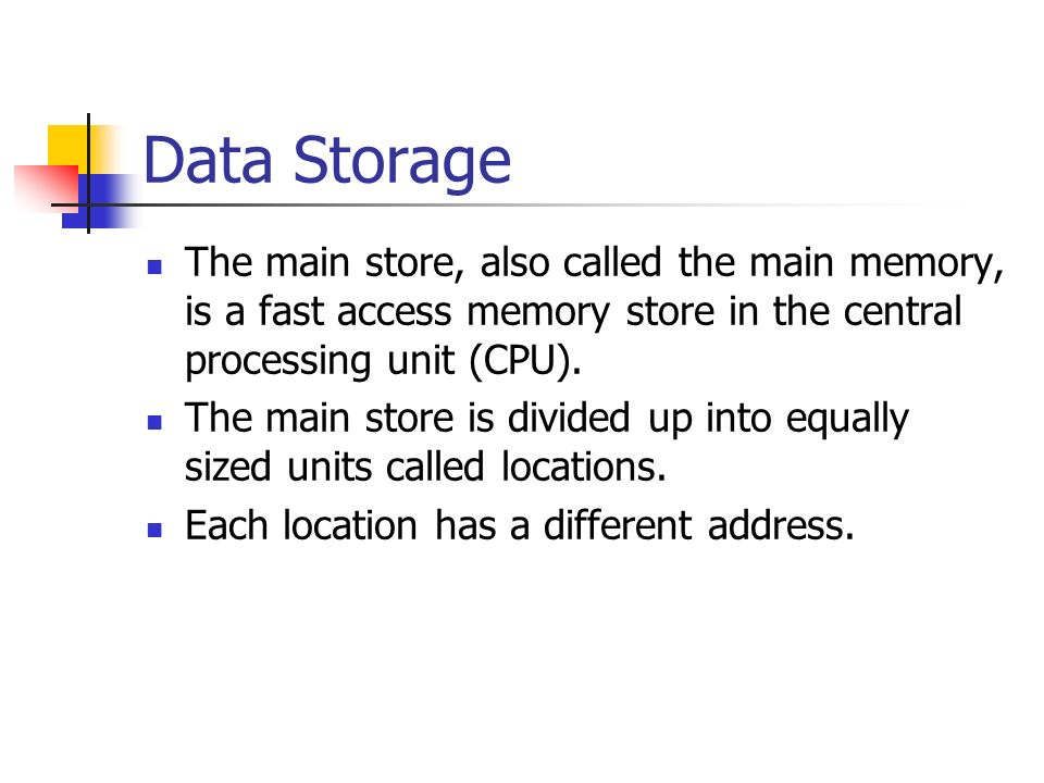 central processing unit and memory location If the op-code requires the cpu to act on some data then the second part of the  instruction will contain either the data or the memory address where the data is.