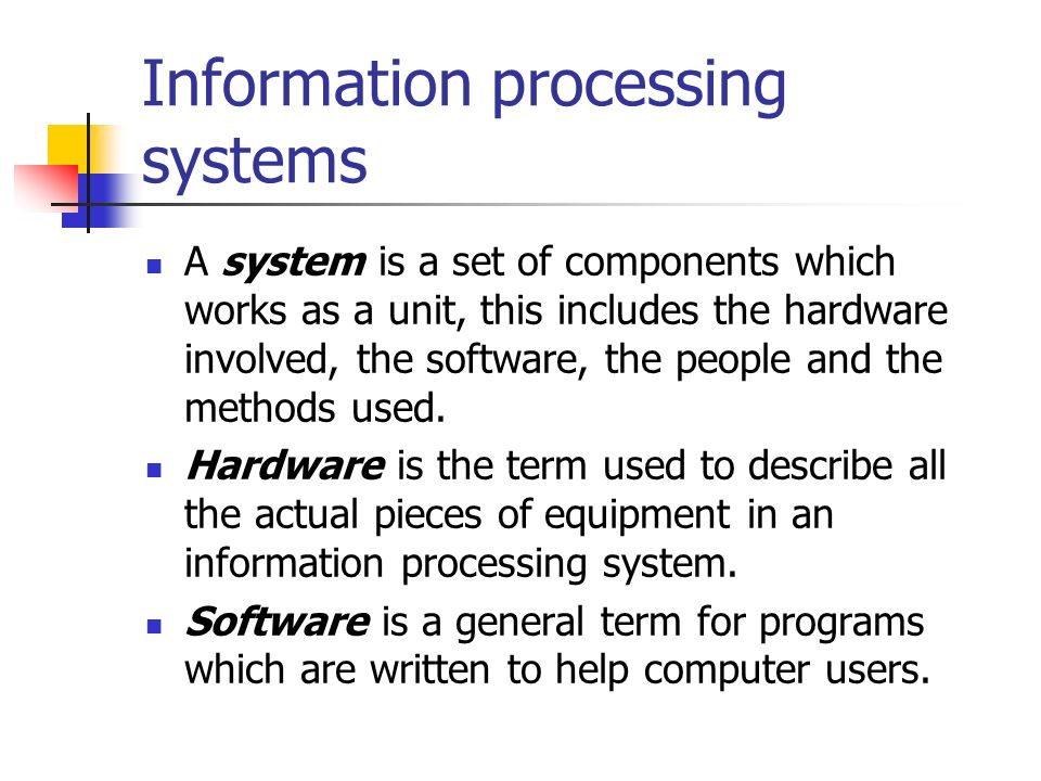 Data Processing System : Information technology ppt video online download