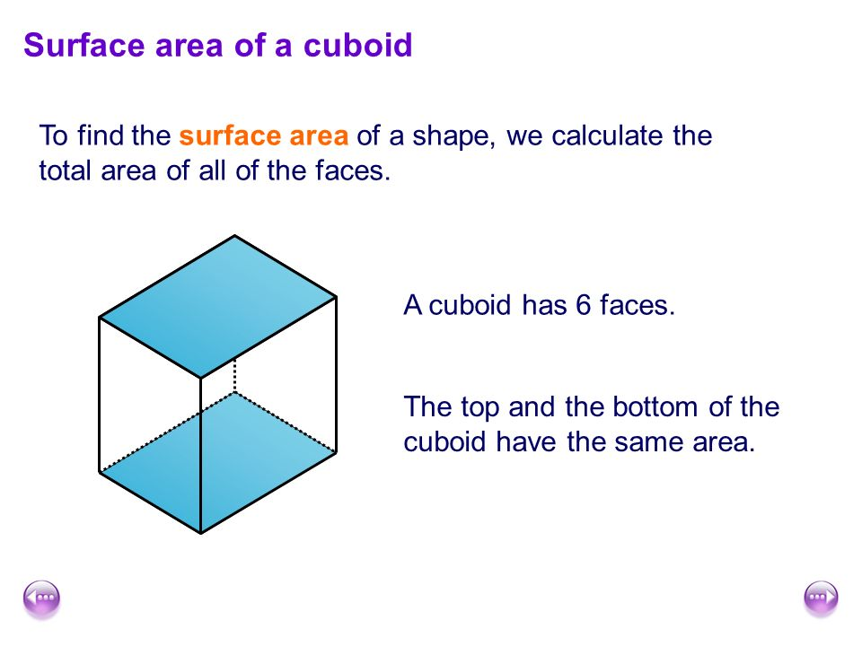 Surface area and volume ppt video online download surface area of a cuboid ccuart Choice Image