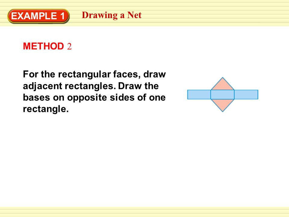 example 1 drawing a net draw a net of the triangular prism  solution