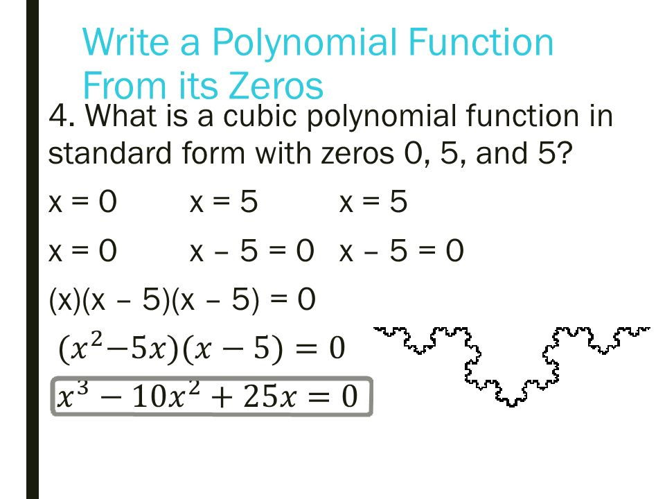 Write A Polynomial Function In Standard Form Bogasrdenstaging