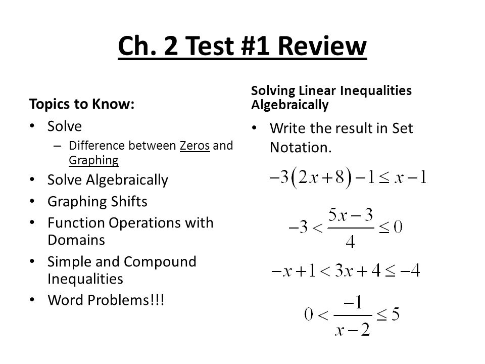 Worksheet Solving for Zeros ppt download – Graphing Compound Inequalities Worksheet