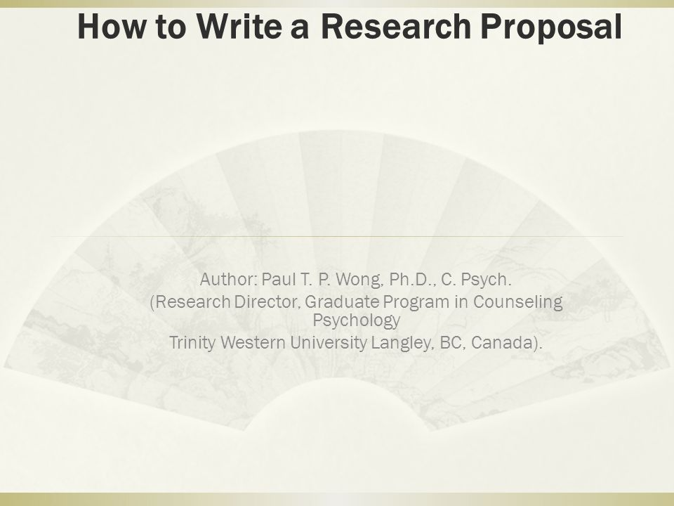 dissertation proposals psychology