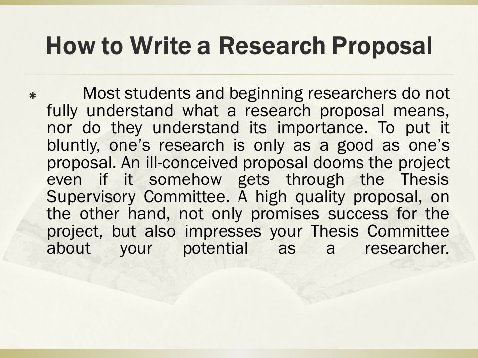 How To Write A Research Proposal  Ppt Video Online Download