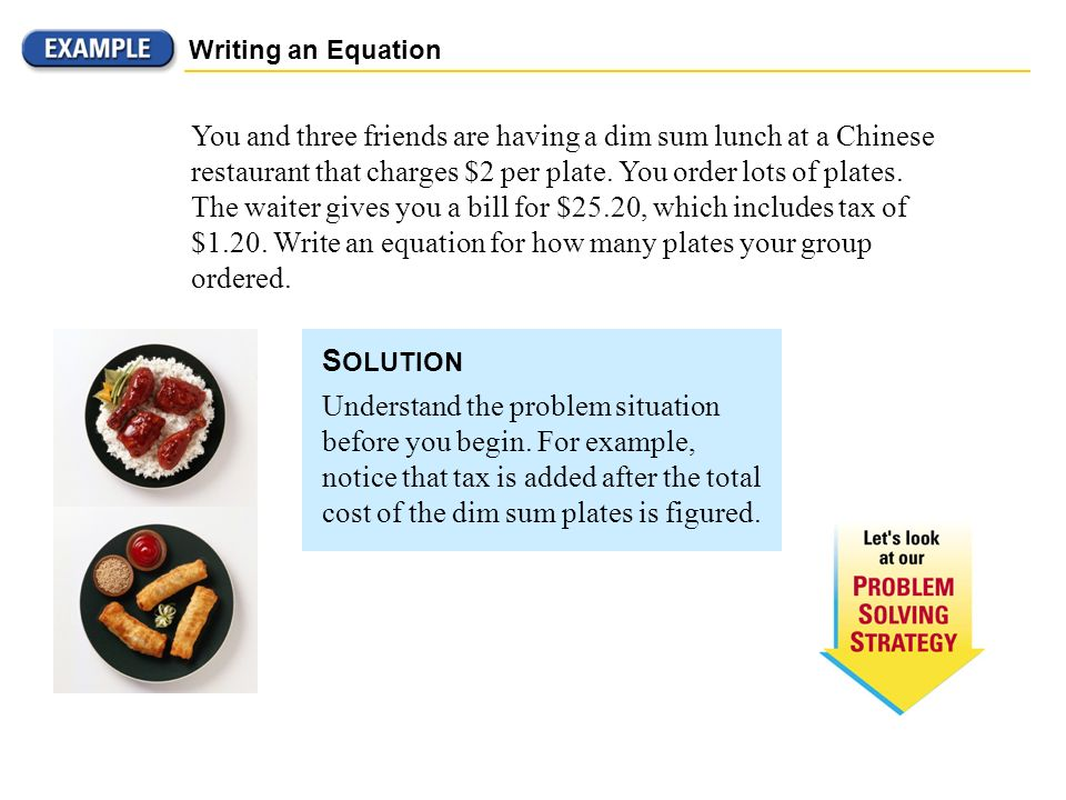 Write an equation to model each situation.Then Solve.Solving Multi-Step Equations?