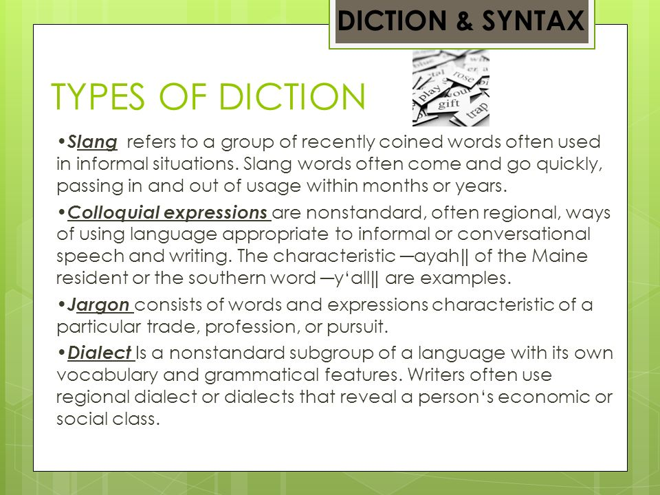 Examples Of Diction In Literature LITERARY ANALYS...