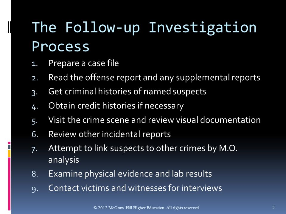 the process of death investigations A guide to death scene investigation: arriving at the death scene when a death investigator first arrives at the crime scene, he or she must confirm the death and conduct a scene walkthrough he or she should follow these steps:.