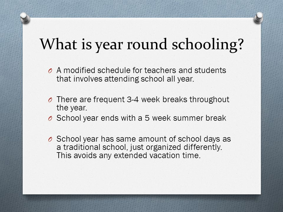 regular school vs year round schooling Year-round education (yre) statisitcs data percent increase in year-round school implementations from 1987 – 2016 563 % number of year-round schools in the us 3,253 percent of public.