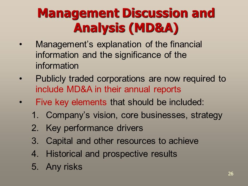a discussion on the key elements of management Guidance and support to an assessment of the definition of corporate governance: the system by which companies are directed and controlled plus our own.