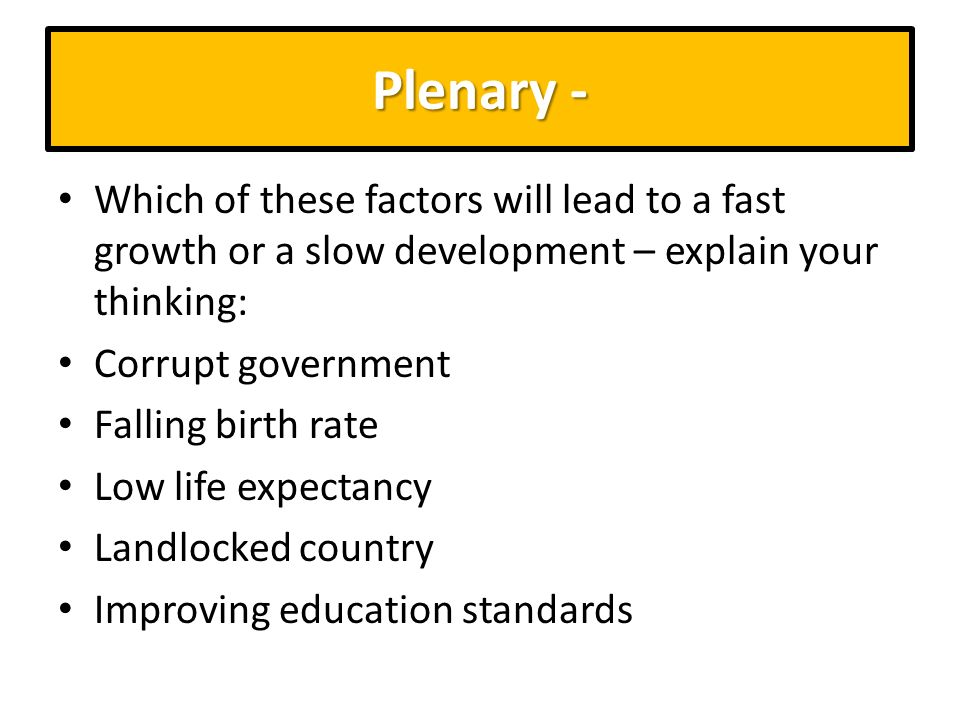 the factors that led to africas low rate of development Economic transformation for africa's development by  to low rates of births  partners that overstate the importance of market led approaches to development.