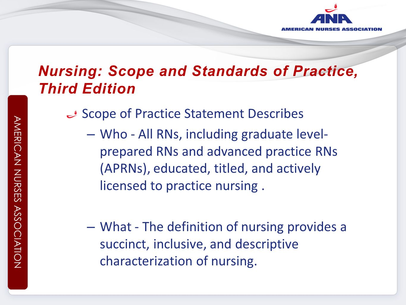 changing the scope of practice for Defining the scope of practice of enrolled nurses in medication administration in australia: a review of the legislation.