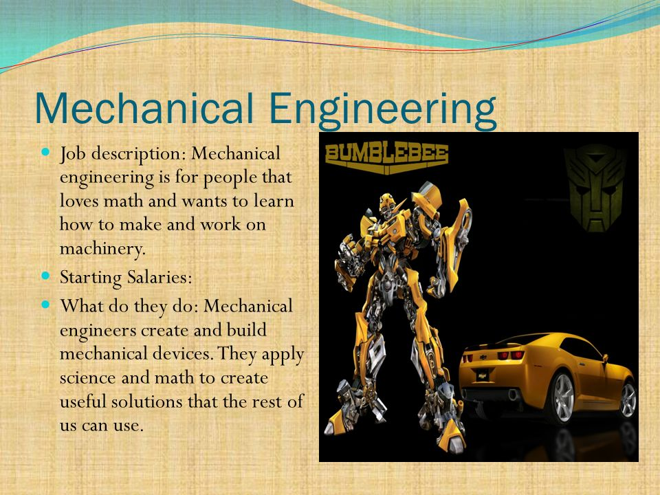 Description Of Mechanical Engineer - Template