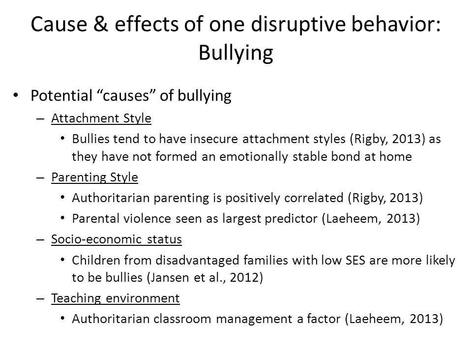 What are the Causes of Cyber Bullying?