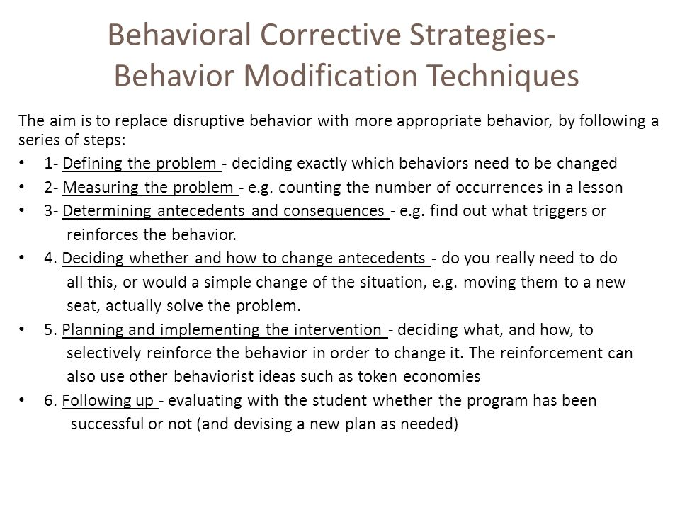 behavior modification and needs Keywords: autism, parents, behavior modification, training needs 1 introduction global attention began to autism began in 1943 by leo kanner, the term autism was used in ancient times to refer to children who are characterized by limited social relationships with other people, and the evolution of this.