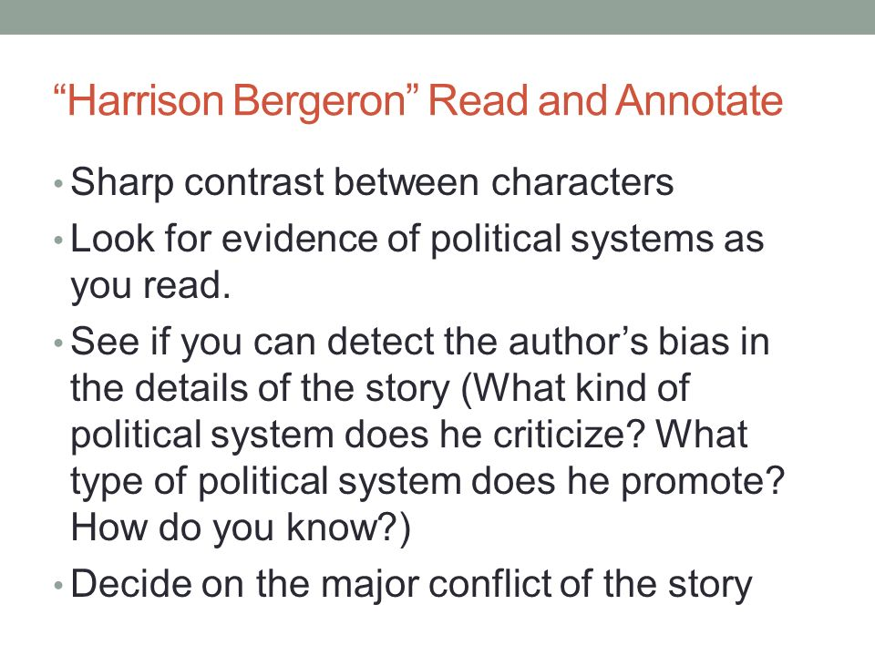 in the story harrison bergeron how is the conflict resolved Lesson 1: strapping on our boots to tackle short story analysis lesson 2: literature: harrison bergeron and text based answers (day 1 of 2) lesson 3: literature: harrison bergeron and text based answers (day 2 of 2.