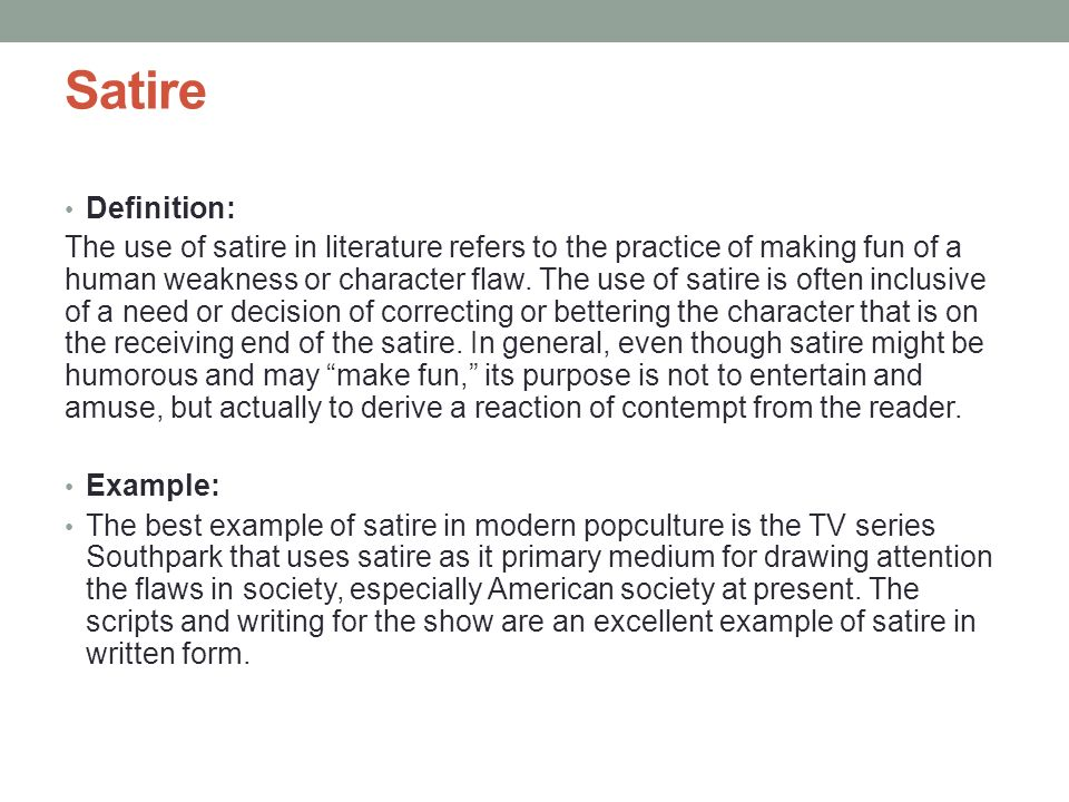 satire definition and examples