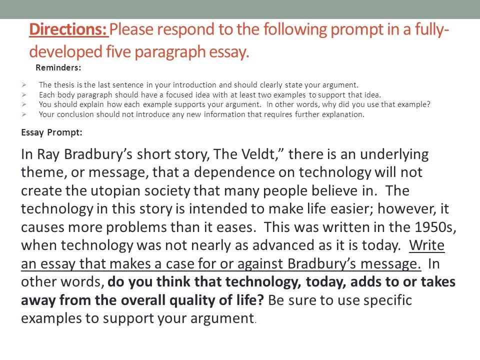 The veldt essay