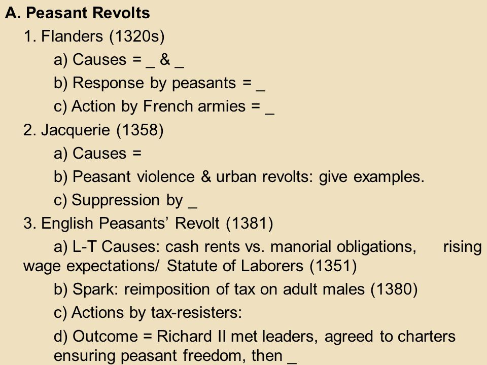 causes and responses of the peasant Are, initially, the least militant class of the peasantry the main underlying causes  in the delay of their political response to so- cial dislocations and movements.