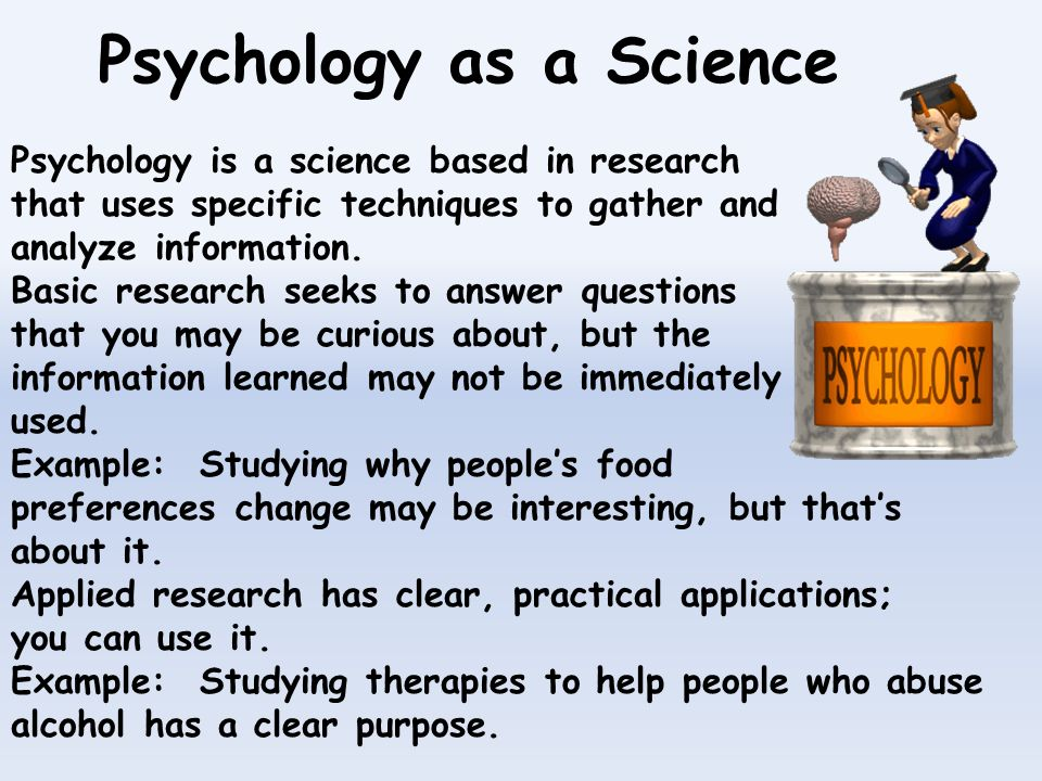 Examples Of Basic Research In Psychology