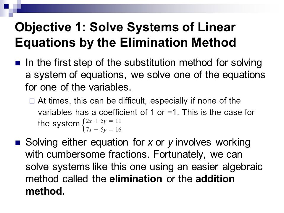Solving systems of linear equations elimination method worksheet