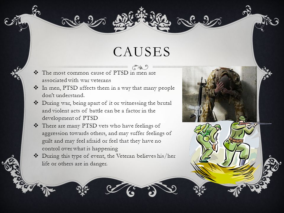 cause and effects of ptsd Post-traumatic stress disorder is a mental health condition that is triggered when a person witnesses a psychologically traumatic event, such as war, a natural disaster, or any situation that invokes feelings of helplessness or intense fear while most people eventually adjust to the aftereffects of.