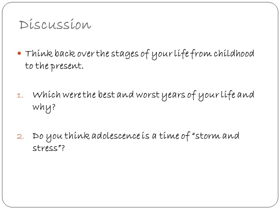 adolescence is a period of storm and stress essay Parent-young adult conflict: a measurement on frequency  late adolescence being a storm and stress period as  parent-young adult conflict.