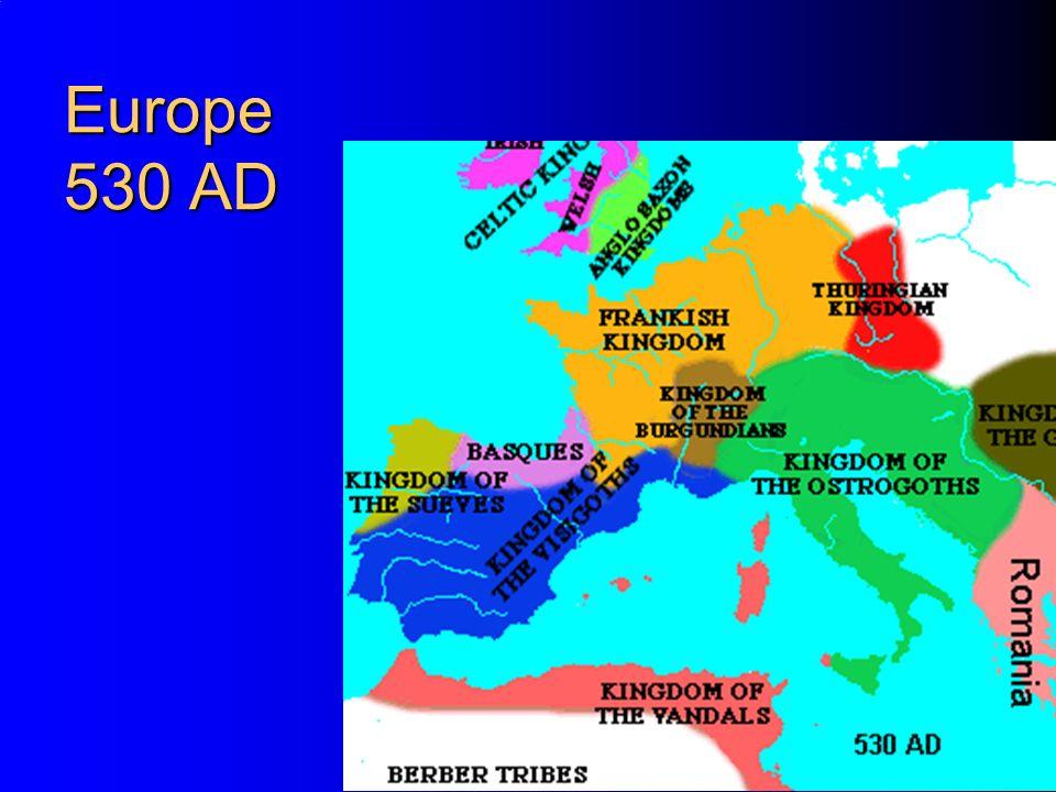 Europe 530 AD