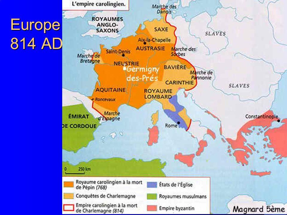 Europe 814 AD