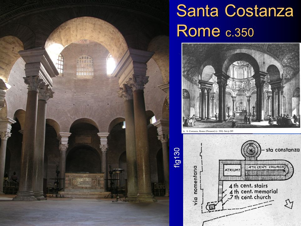 Santa Costanza Rome c.350 fig130 Chapter 8+9 Architectural History