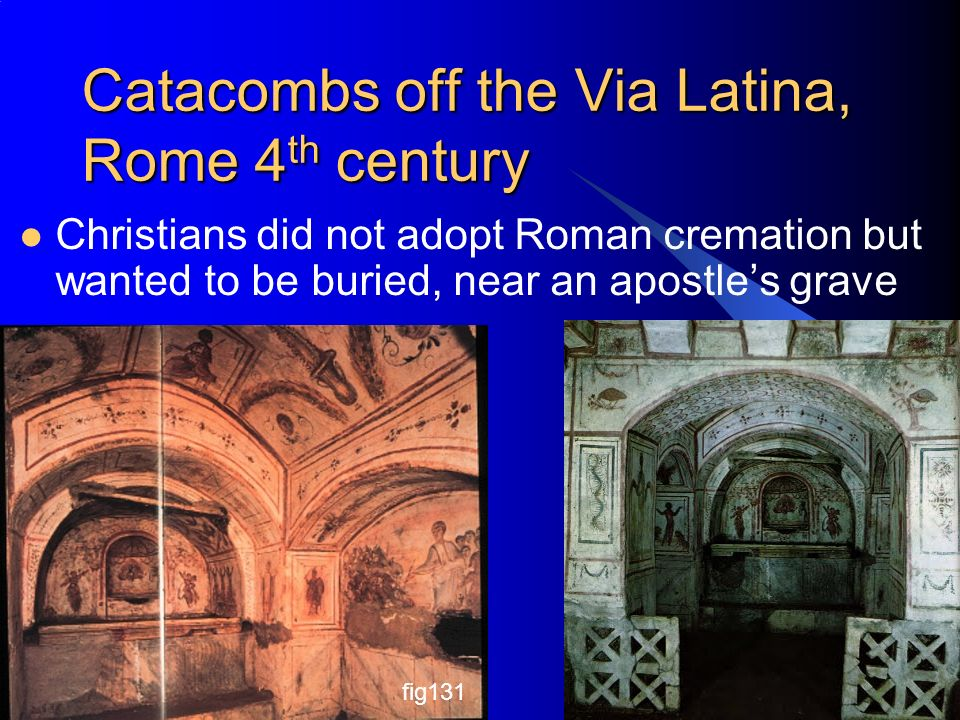 Catacombs off the Via Latina, Rome 4th century